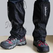 Waterproof Walking Gators Boot Hiking Climbing Legging Trekking Gaiters Black Uk
