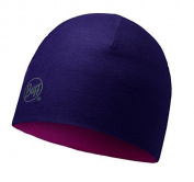 Buff Merino Wool Unisex Headwear, Multicoloured Reversibleplum