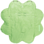 Wallaboo Baby Blanket Cosy Faux Suede with Thick Shearling Lining, Lime Green