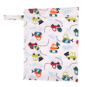Tangc Baby Waterproof Nappy Storage Bag Nappy Bag Washable Nappy Dry Wet Cloth