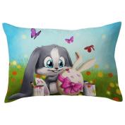Pillow Case,TOPUNDER Easter Rectangle Toss Pillow Cover Hidden Zipper Closure