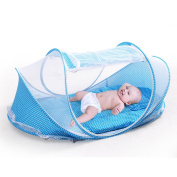 Rainbow Fox New baby bed ,Foldable and Portable Crib for travel ,1set of Mosquito & Net Mattress & Pillow