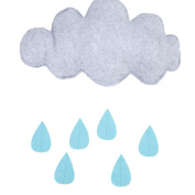 Lalang Raining Clouds Water Drop Children's Bedroom Baby Nursery Wall Hanging Decoration Play Tent Decoration