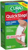 Curad Quickstop Instant Clotting Technology Flex-Fabric Bandages, Assorted 30 ea