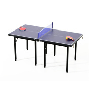 Aosom 1.5m Folding Indoor/Outdoor Table Tennis Table Set