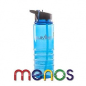 700ml Water Bottle With Folding Straw Carabiner Blue - Carry Bottle Gym Walking