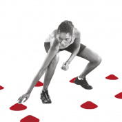 C.P. Sports Crossover Cone Markers Fitness Accessory, Red, One Size