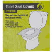 20 X Paper Universal Festival Camping Hygienic Toilet Seat Covers Flap Flush