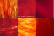 20cm x 13cm RED Variety Pack Stained Glass Sheets