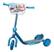 New Disney Cars Planes Childrens Blue 3 Wheeled Push Scooter Boys Toy Xmas