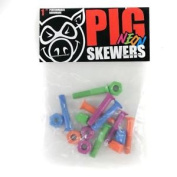 Pig Neon Skateboard Bolts Phillips 2.5cm Enough For One Complete Setup New
