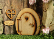 Round Opening Fairy Door. Small Magical Round Three-Dimensional Opening Fairy Door. Wooden Self Assembly Craft Kit.