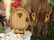 Key to My Heart Fairy Door. Three-Dimensional Self-Assembly Wooden Fairy Door Craft Kit with Fairy Window, Shutters and Key!