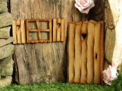 Rustic Log Cabin Fairy Door. Three-Dimensional Self-Assembly Wooden Fairy Door Craft Kit with Fairy Window & Shutters