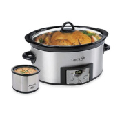 Professional Crock-pot® Stainless Steel 5.7l Countdown Dipper with Oval Slow Cooker