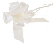 2 x White 50mm Waterproof Poly Pull Bows