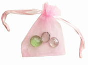 Light Pink Organza Bags with Ribbon Ties 7.6cm x 10cm