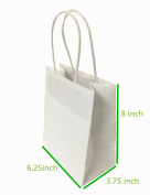 "Metrogalaxy 13cm x 8.3cm X8"" Small Kraft Paper Bags, Party Bags, Shopping Bags with Handles, Colour"