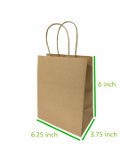 "Metrogalaxy 16cm x 9.5cm X8"" Small Kraft Paper Bags, Party Bags, Shopping Bags with Handles, Colour"
