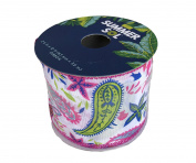Summer Sol Colourful Paisley Ribbon 6.4cm x 3.7m