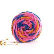 Celine lin One Skein Super Soft Colourful Baby Blanket Big Warm Scarf Yarn Knitting Yarn,Multi-colored08
