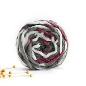 Celine lin One Skein Super Soft Colourful Baby Blanket Big Warm Scarf Yarn Knitting Yarn,Multi-colored07