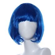Beauty Top Masquerade Small Roll Bang Short Straight Hair Wig Halloween Christmas