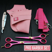 Professional Hairdressing Scissors Barber/Salon & Shears SET 15cm with Pouch & RAZOR