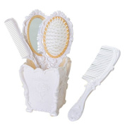 Professional Hair Comb Brush Set with Mirror Hairbrush Holder Detangling Massage Combs Cosmetics Hair Styling Tools Set