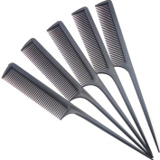 CHIC*MALL Plastic Tips Combs Hairdressing Comb Hair Combs Black