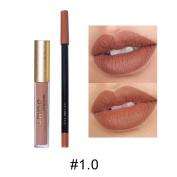 KAYI Suede Lip gloss + Lipliner - Matte Lip Glaze, Smooth Lipliner - Pumpkin Red, Nude Pink, Raspberry