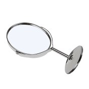 MagiDeal Women Double Sided Makeup Cosmetic Mirror Normal Magnifying Stand Mirror Ellipse