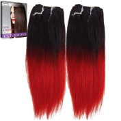 Emmet Ombre Straight 100% Human Hair Wefts 20cm Short Weaving 2Bundles/Lot about 50g/Bundle, with Hair Care Ebook
