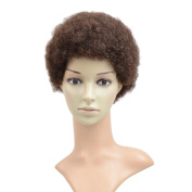 Razeal Afro 5.1cm Short Afro Kinky Curly Wig with Brazilian Hair Black Human Hair Wigs - Wigs For Black Women - Short Wig Capless Wigs - Kinkys Curly Hair Wig