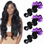 Unprocessed Brazilian Virgin Human Hair Weave Bundles Body Wave Weft Hair Extensions 4 bundles Natural Black 95-100g/pc (10 12 14 16) Giulia Hair