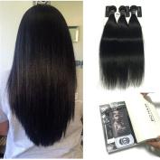 BQ HAIR Natural Straight Human Hair Bundles Unprocessed Brazilian Virgin Hair Weave Extensions