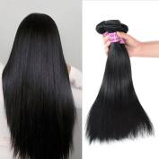 Burhair Brazilian Virgin Hair Straight Hair 3 Bundles Unprocessed Remy Human Hair Weave Extension Natural Colour 14 16 46cm