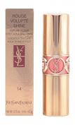 Yves Saint Laurent Rouge Volupte Shine Lipstick, 14 Corail In Touch, 5ml