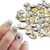 Charming Crystal Big Size Nail Art Diamond Sharp Botton 810mm Oval Nail Rhinestone Diy Nail Salon Beauty Decoration 10pieces