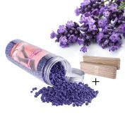 410ml Hair Removal Wax, HoBeauty 50pcs Applicator Sticks, Stripless Depilatory Hard Wax Beans for Women and Men 410ml