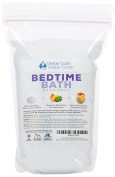 New Bedtime Bath Salt 0.9kg (950mls) - Epsom Salt Bath Soak With Chamomile & Orange Essential Oil Plus Vitamin C Crystals - Ease Into Your Bedtime Routine With A Relaxing Aromatherapy Bath