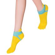 Nesee Women Five Toe Cotton Socks Pure Sports Trainer Running Finger Breathable Socks