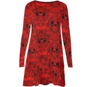Women Dress, Neartime New Ladies Halloween Skull Long Sleeve Party Mini Dress