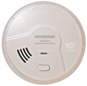 USI SMOKE AND FIRE ALARM, SMART ALARM TECHNOLOGY, 10 YEAR SEALED BATTERY, ionisation