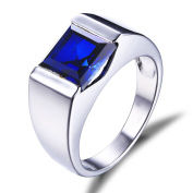 Jewelrypalace Men's 3.4ct Blue Created Sapphire Ring Solid 925 Sterling Silver