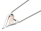Clogau Womens Jewellery 9ct Rose Gold And Silver Heartstrings Necklace