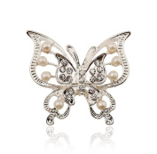 Demarkt Elegant Brooch Fashion Double Layer Butterfly Diamond Inlaid Brooch Rhinestone Covered Corsage Exquisite Women's Jewellery
