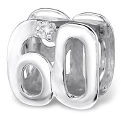 60th Birthday Bead - Sterling Silver with Crystal Gemstones - Exclusive to Katy Craig Ltd