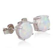 Brand designer 925 Sterling Silver White Fire Opal earrings stud Earrings women Fashion Jewellery E197