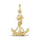 9ct Gold Anchor Charm Pendant